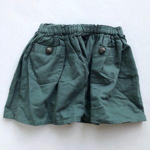 Crazy 8 slate green skirt size 5T